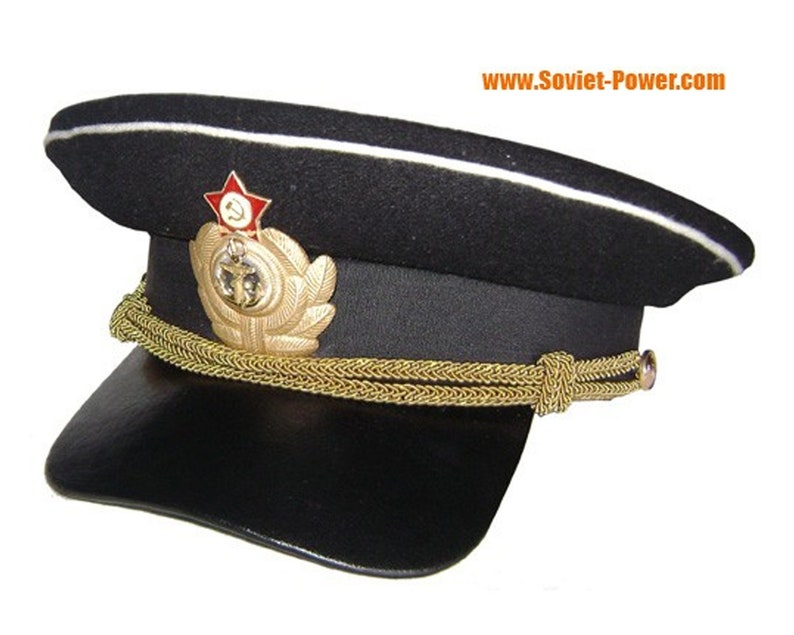37be0e930f0 Soviet Army Captain Russian military visor cap WW2 type