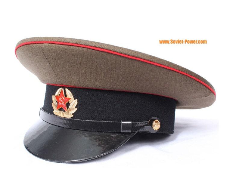 94737ae40 Soviet / Russian Army Sergeant military Visor Hat