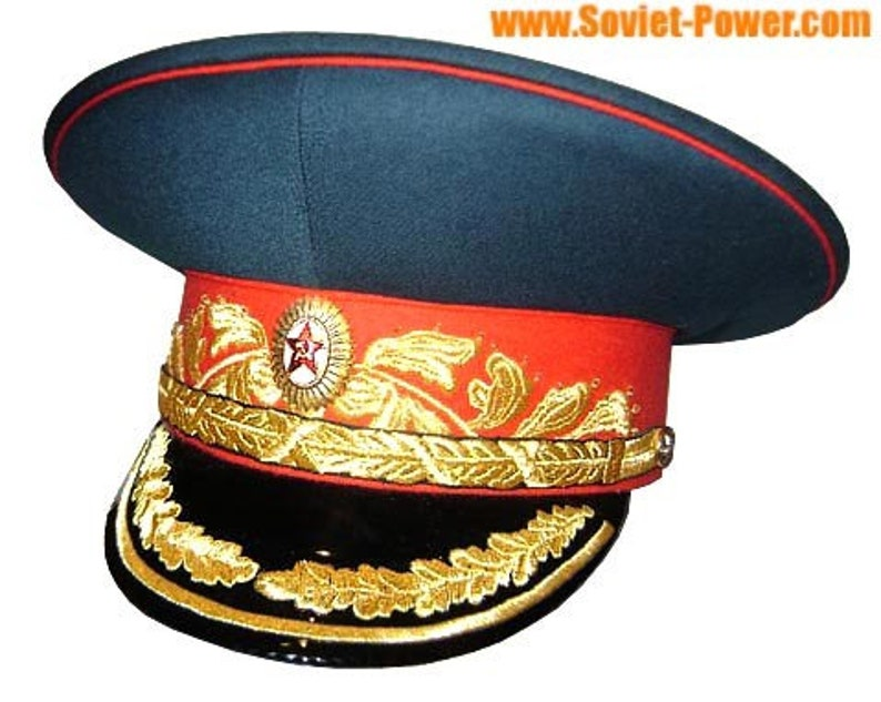 58a5ffa3b Soviet Marshal embroidery military visor cap