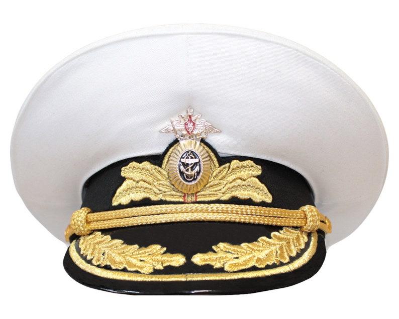 29a563d1 Russian Navy Fleet hat parade Admiral visor cap | Etsy