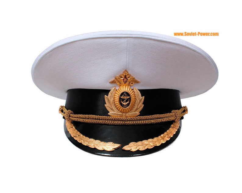 7caa1fb0bf1 Russian Navy fleet Captain parade visor cap