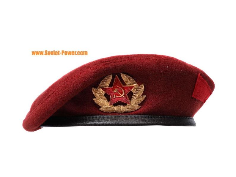 Marrone rossiccio berretto militare Spetsnaz russi cappello  388c2acfedef