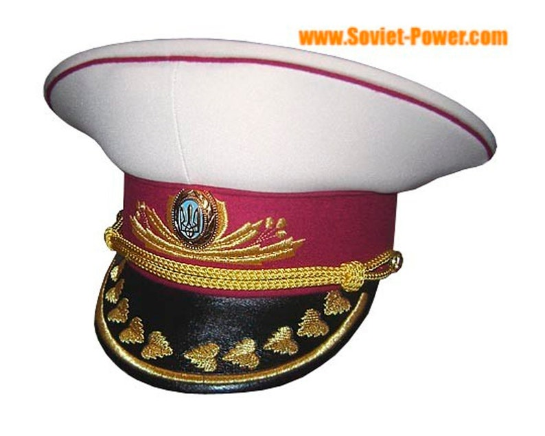 Ukraine Army General Visor Hat white  9de04ae82bd0