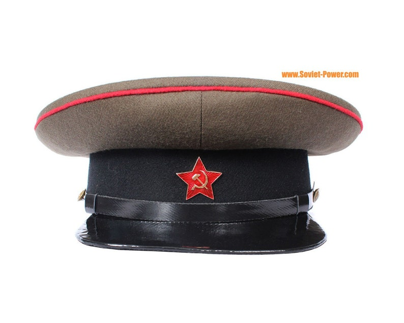 a3f2080124b0d Russian RKKA ARTILLERY Visor CAP Red Army hat badge
