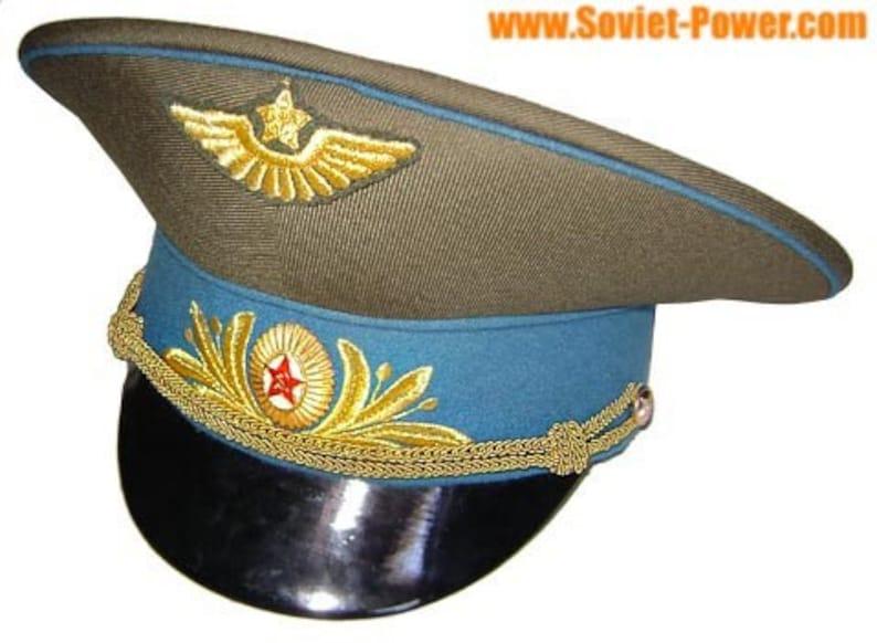 bc7df2ddb13 Russian   Soviet Field visor hat of Air Force Marshall