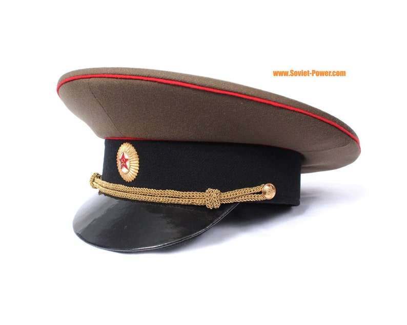 a4b1618a466 Soviet Army Officer Russian visor cap with badge