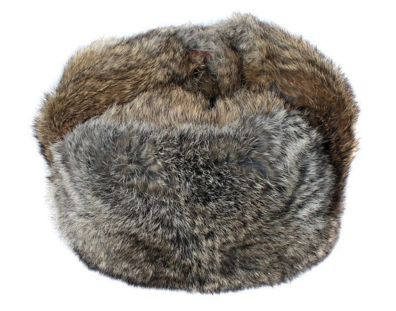 Brown soft rabbit fur modern winter hat ushanka  8b9eb853fb3