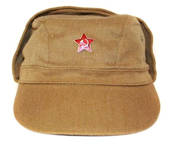 étoile rouge Armée Russe Afghan cap militaire soldat chapeau soviétique URSS uniforme KAKI