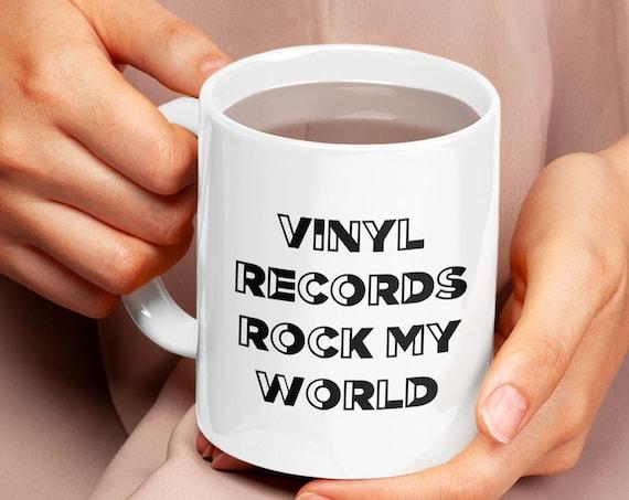 Vinyl records collector - vinyl records rock my world coffee tea mug