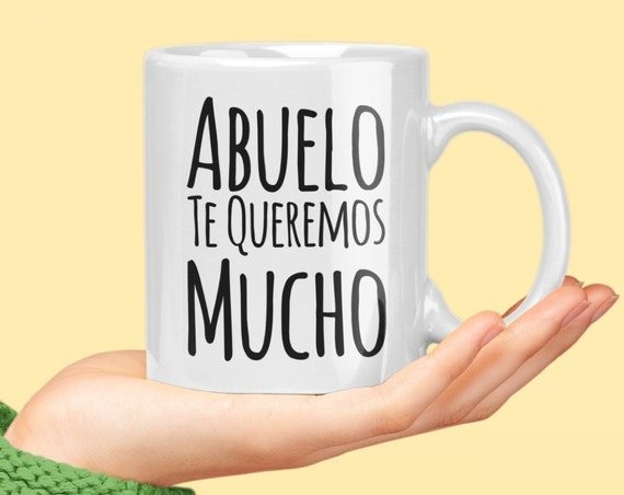 Regalo para abuelo te queremos mucho coffee mug taza de cafe cumpleaños