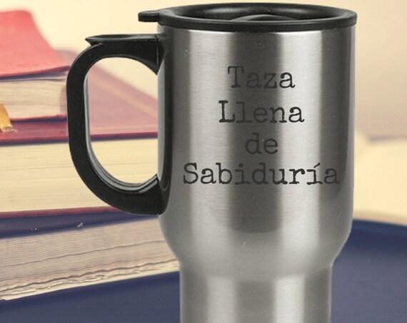 Taza de cafe - taza llena de sabiduria - regalo para papa mama tia tio abuela abuelo