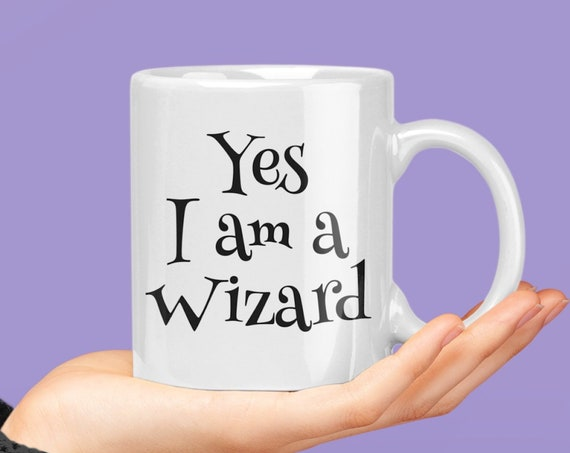 Cosplay gift - yes i am a wizard fandom coffee mug tea cup