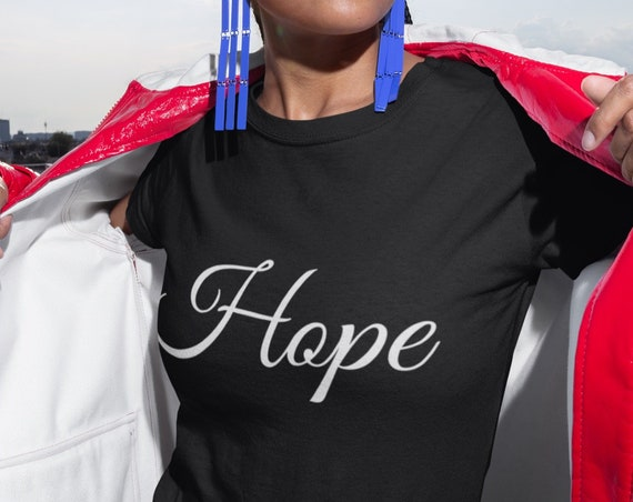 Inspirational Tee - Hope Short-Sleeve Unisex T-Shirt - Holiday Gift for Him Her