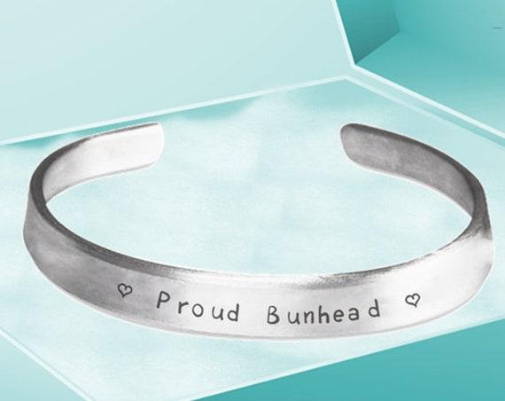 Ballet Themed Gifts  Proud Bunhead Hand Stamped Bracelet  For Ballerina  Dance Teacher