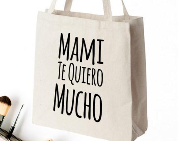 Regalo Para Mama Mami Te Quiero Mucho Tote Bag Bolsa de Cumpleaños