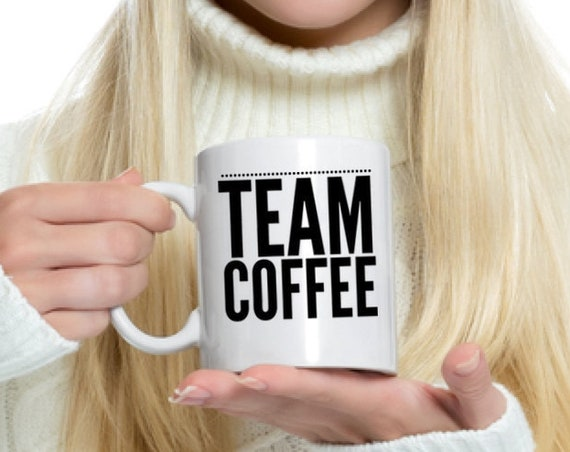 Coffee enthusiast gift mug  team coffee cup