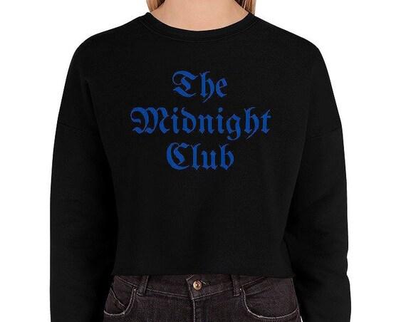The Midnight Club Blue and Black Crop Sweatshirt - TV Fandom - LARP - Larping