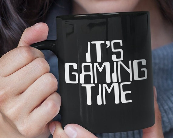 Gamer mug - it's gaming time coffee tea cup - video game player gift - Pro Gamer