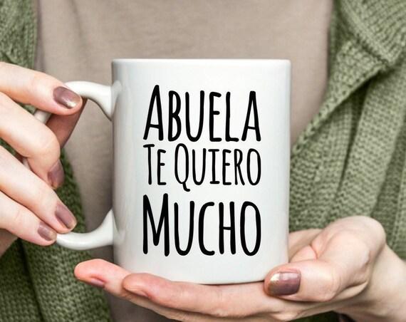 Regalo para abuela te quiero mucho coffee mug taza de cafe cumpleaños