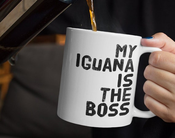 Iguana gifts - my iguana is the boss tea or coffee mug -