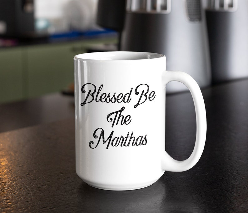 Pop culture coffee mug  blessed be the marthas cup  tv image 0
