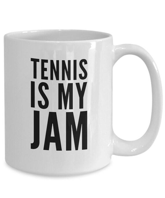 Tennis lover mug tennis is my jam player coffee cup