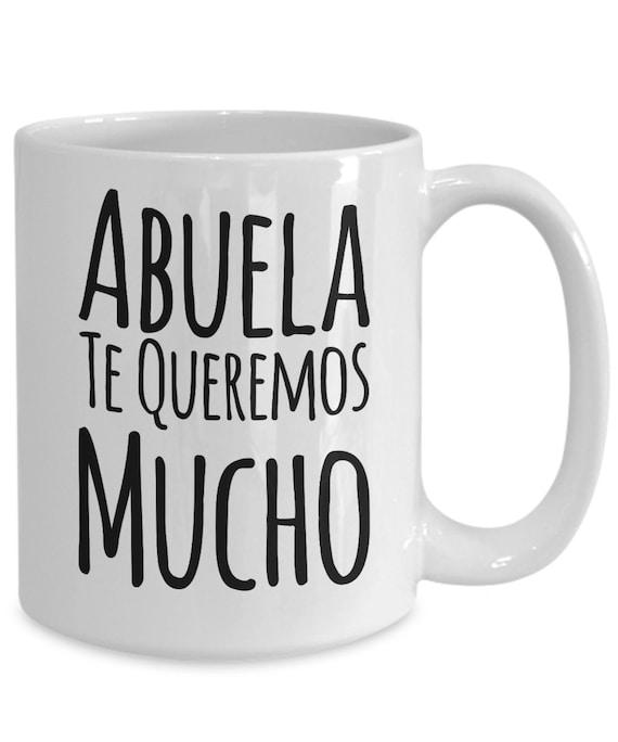 Regalo para abuela te queremos mucho coffee mug taza de cafe cumpleaños