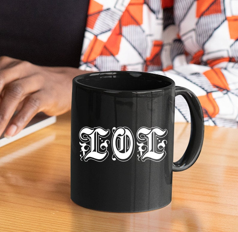 Social Media Manager Gift  LOLO Laugh Out Loud Black Coffee image 0