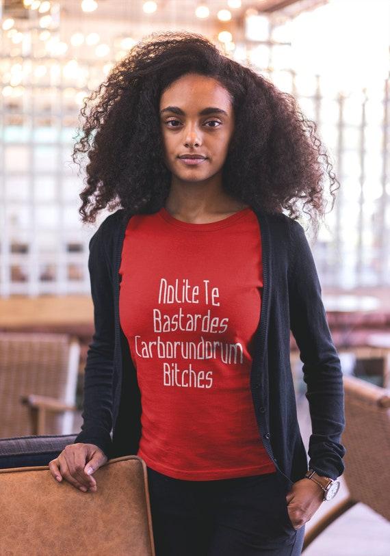 Nolite te bastardes carborundorum bitches handmaid Short-Sleeve Unisex T-Shirt Bachelorette Party Tee