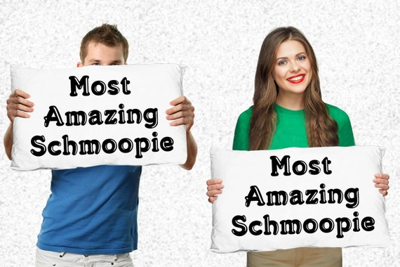 Couples gift - most amazing schmoopie pillowcases - gift for parents, grandparents, newlyweds, anniversary, valentines