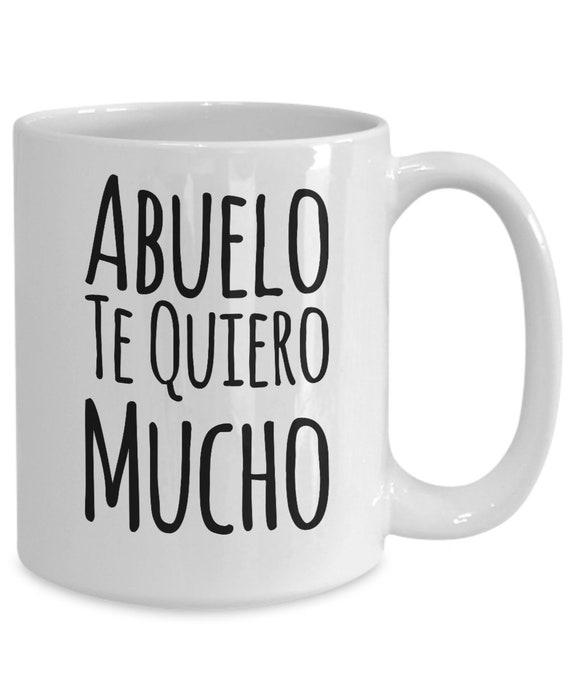 Regalo para abuelo te quiero mucho coffee mug taza de cafe cumpleaños