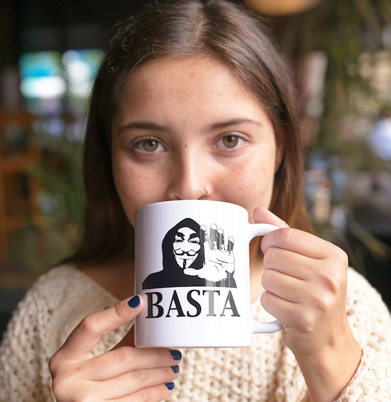 Basta anonymous mug resist persist coffee mug