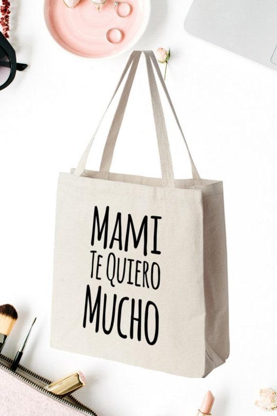 Regalo Para Mama Mami Te Quiero Mucho Tote Bag Taza de Cafe Bolsa de Cumpleaños