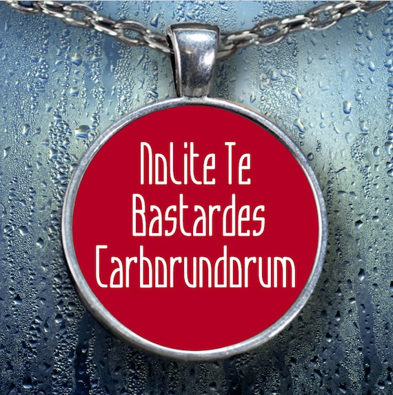 Nolite te bastardes carborundorum pendant necklace silver plated feminist resistance persistence gift for women