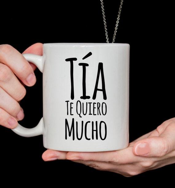 Regalo para tia te quiero mucho coffee mug taza de cafe cumpleaños