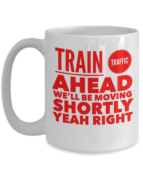 NYC Subway Mug train traffic ahead New York City transit coffee tea cup