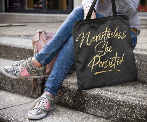 Resistance Tote bag - Nevertheless She Persisted Large Handbag