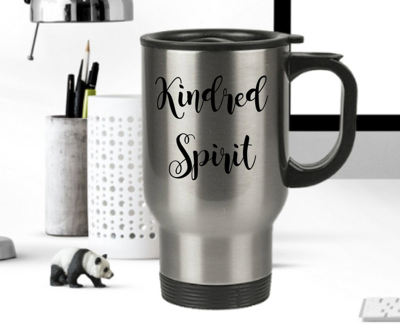 Kindred spirit travel mug  coffee tea smoothie cup for close image 0