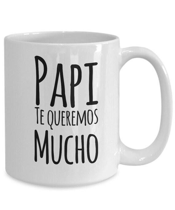 Regalo para papa  papi te queremos mucho coffee mug  taza de cafe  dia del padre