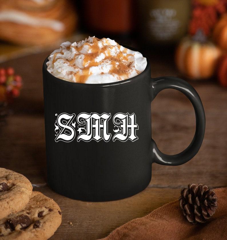 Social Media Manager Gift  SMH Shake My Head Black Coffee Mug image 0