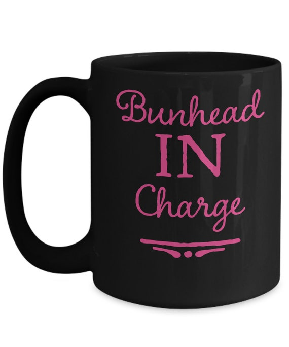 Ballet teacher gifts  bunhead in charge black coffee mug  tea cup for dance instructor