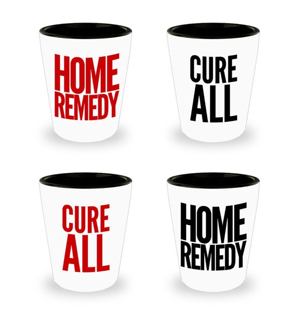 Bachelorette party basket  Cure all home remedy shot glasses  Set of 4  21st shot glass set