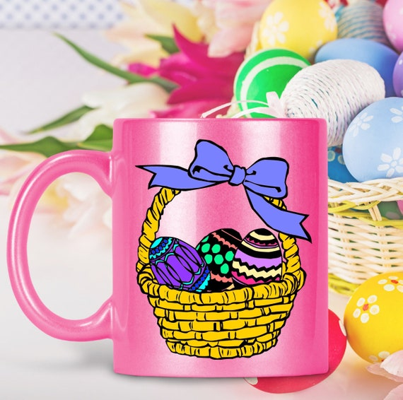Easter basket Stuffers - easter eggs sparkly coffee tea mug - Hot Chocolate Candy Cup