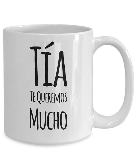 Regalo para tia te queremos mucho coffee mug taza de cafe cumpleaños