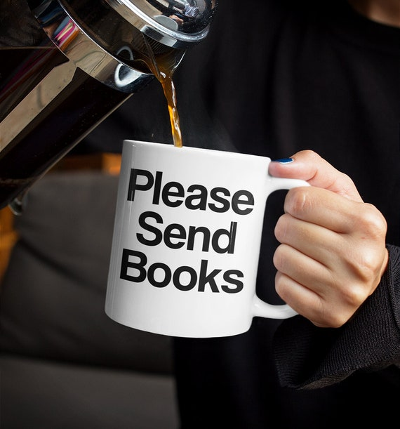 Librarian mug please send books coffee tea cup