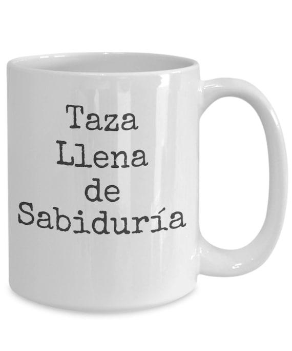 Coffee mugs in spanish  taza llena de sabiduría  regalo para mama abuela  cumpleaños