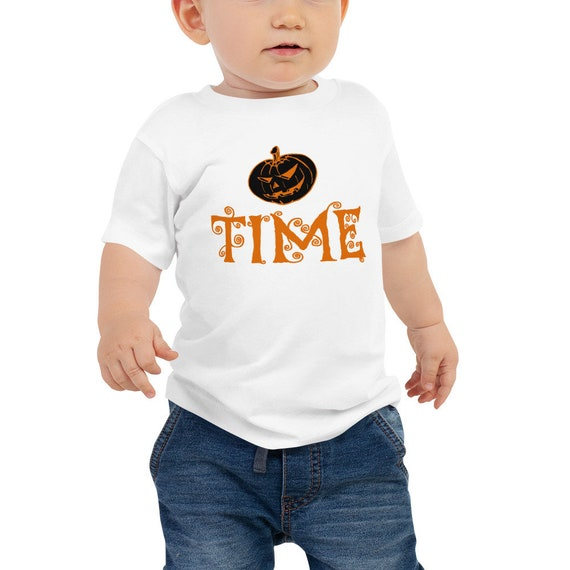 Halloween Baby T-Shirt - Pumpkin Time Baby Jersey Short Sleeve Cotton Tee