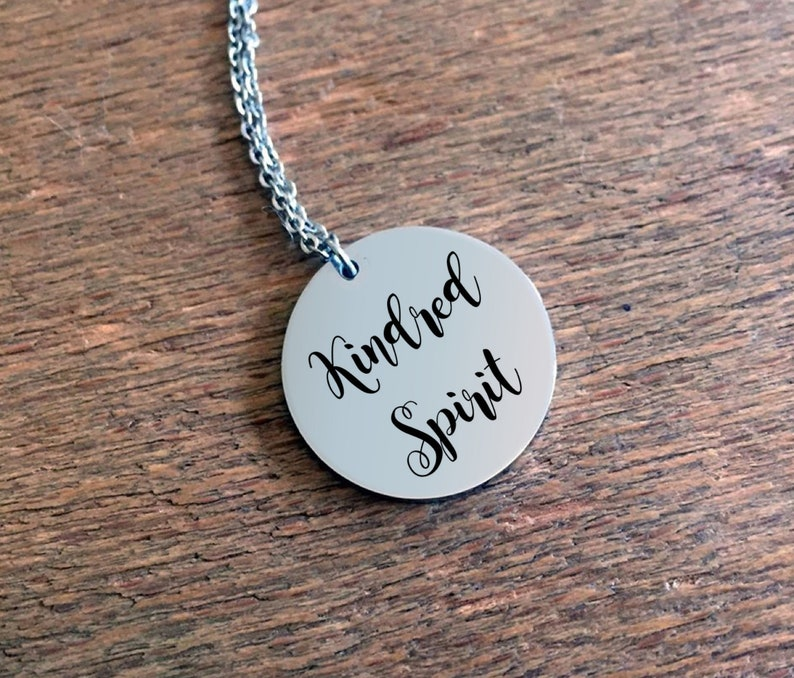 Friendship Necklace  Kindred Spirit Stainless Steel Round image 0