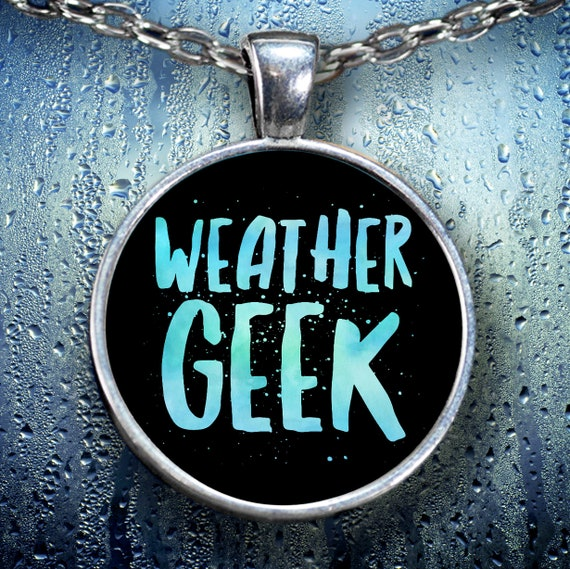 Weather geek necklace gift for meteorologist forecast storm chaser