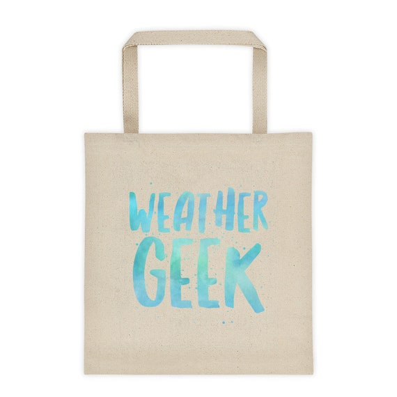 Gifts for people who love weather  Weather geek sturdy canvas tote  gifts for meteorologists